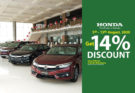 Honda Offering 14% Discount on…. 15