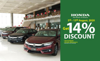 Honda Offering 14% Discount on…. 9