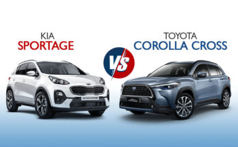 On Papers: Kia Sportage vs Toyota Corolla Cross 55