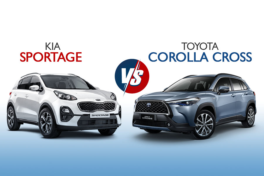 On Papers: Kia Sportage vs Toyota Corolla Cross 4