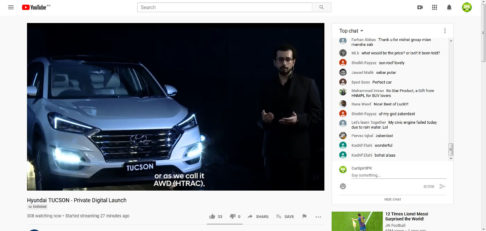 Hyundai-Nishat Unveils Tucson SUV in a Digital Event Online 4
