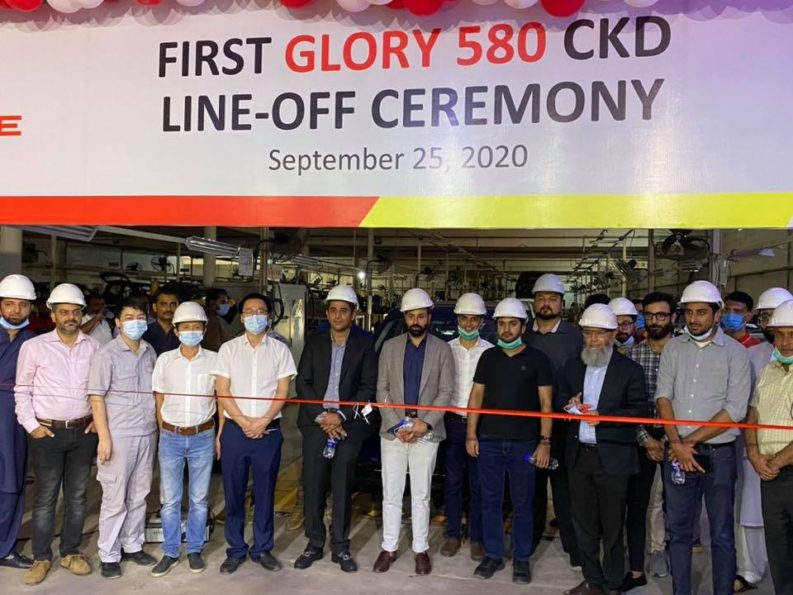 First DFSK Glory 580 Rolls Off the Assembly Lines 1