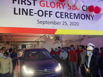 First DFSK Glory 580 Rolls Off the Assembly Lines 3