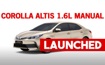 Toyota Corolla Altis 1.6L Manual Launched 18
