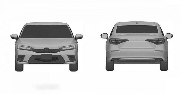 Next-Gen Honda Civic Sedan Leaked In Patent Images 6