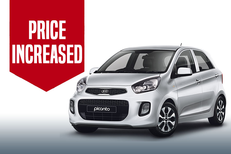Kia Picanto Price Increased 2