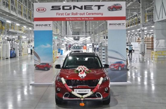 First Kia Sonet Rolls Off the Assembly Lines in India 2