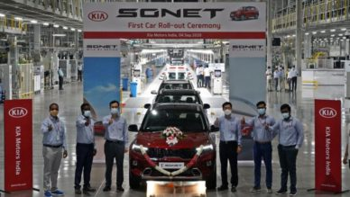 First Kia Sonet Rolls Off the Assembly Lines in India 4