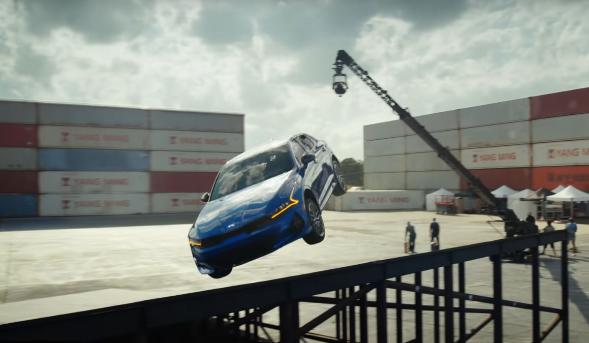 All New Kia K5 Performs Amazing Stunt in Latest TVC 7