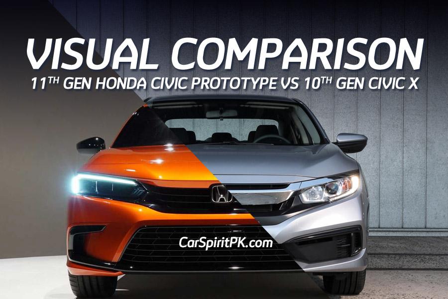 Visual Comparison: Honda Civic 10th Gen vs 11th Gen Prototype 8
