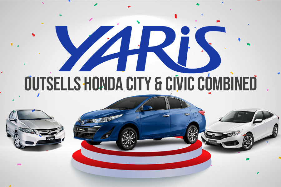Toyota Yaris Outsells Honda City & Civic Combined 10