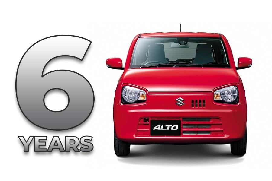 8th gen Suzuki Alto Completes its 6 years 2